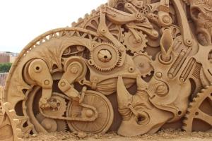 steampunk_animals_sand_sculpture